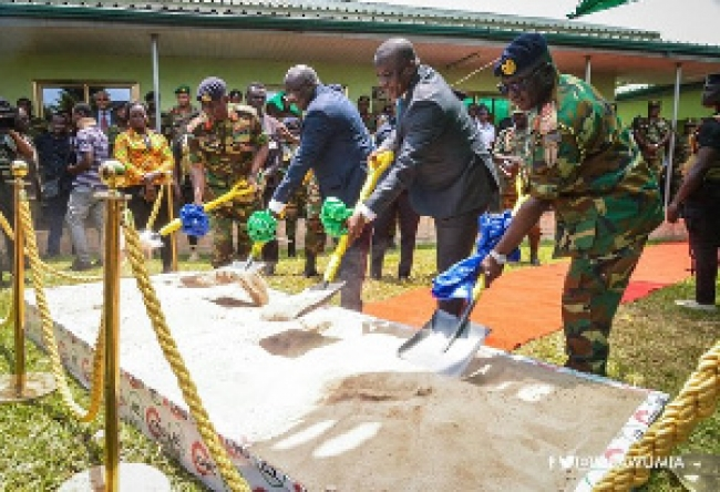 Bawumia cuts sod for construction of new Ghana Army Headquarters