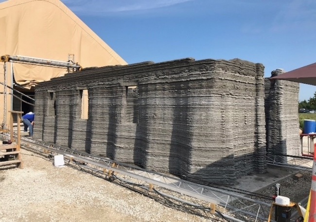 Marines built the world's first continuous 3D-printed concrete barracks in 40 hours