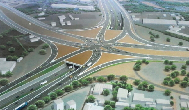 Construction of Tema roundabout interchange project in Ghana on track