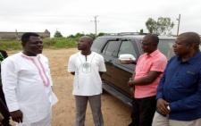 Asante Kotoko chairman Dr Kwame Kyei cuts sod for mini stadium construction at Adako Jachie