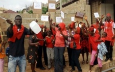 Residents of Ashongman Estate demonstrate against siting of filling station